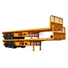 tri axle 50tons flatbed platform semi trailer with for Madagascar