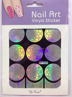 Nail Stencil Guide Vinyl Decal Sticker Sticker Hollow Tip Guides nail art stickers