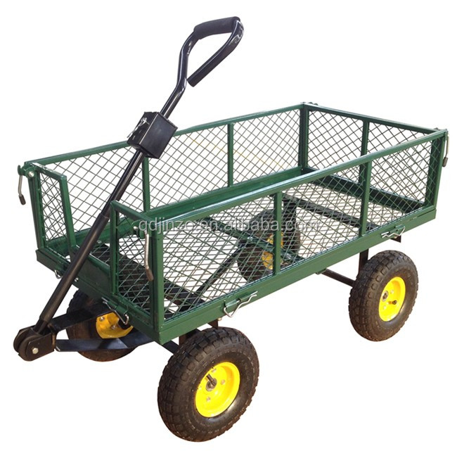 Hot sale OEM Mesh Foldable Steel Garden Tool Carts price,wholesale garden carts