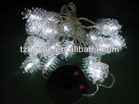 ps material pine cone decoration solar powered led string light