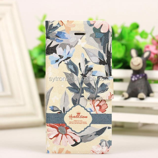 Book Style Arts And Crafts Mobile Phone Case for Iphone 6s with Stand Function