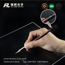 Scratch resistant acrylic sheet