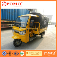 2016 Chinese Popular Motorized Gasoline Closed Cabin Cargo 250CC 175CC Cargo Tricycle