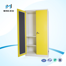 Luoyang Mingxiu High Quality Colorful New Design Steel Clothes Locker Metal Closet Wardrobe