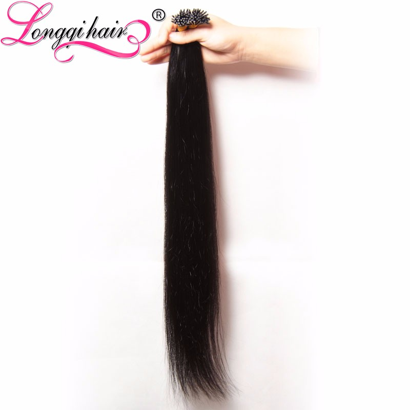 2017 New product brown hair with blond highlight i tip hair extensiongs wholesale weave in new york