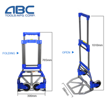 Folding Size 765*390*60mm China supplier aluminum hand trolley trucks for sale
