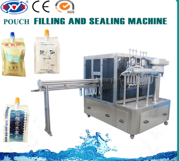 Hydrogen Water stand up pouch filling machine / Hydrogen water pouch filling capping machine