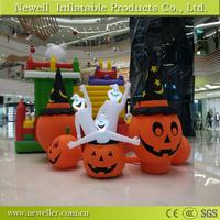 Professional giant halloween inflatable pumpkin model With OEM logo