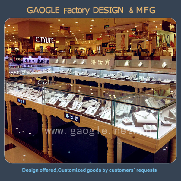 custom hot selling jewelry store lcd sushi led tv showcase furniture designs with tempered glass