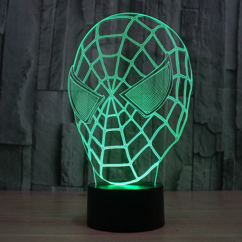 New design 7 Color Change 3d LED Desk Night Lamp Home Led Room Light