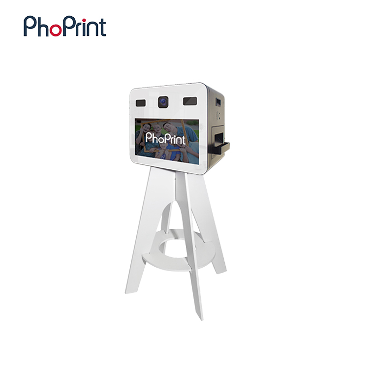 New LCD panel portable advertising equipment mobile phone photo printing kiosk cases shells oem service factory vending machines
