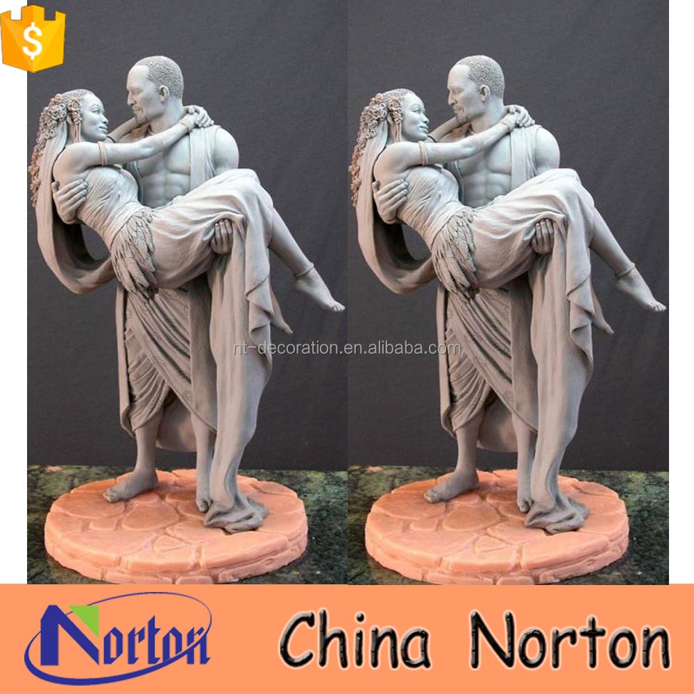 Life size garden decoration couples image marble angel statue NTMS-R017L