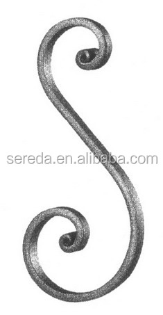 ornament iron scroll for fence/railings/gate/stair 20B.031
