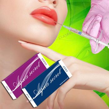 Cross linked lip filler hyaluronic acid