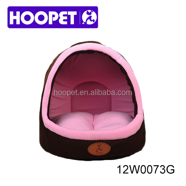 Pet house bed half open indoor cozy cheap polar fleece cute cat bed kennel dog supplies