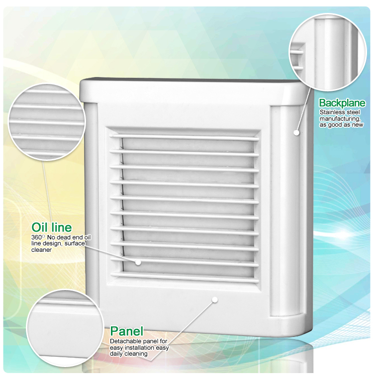 Automatic Shutter Bathroom Exhaust Fan (KHG10-V)