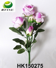 Home Decorative Artificial Flowers Rose Bud Silk Flowers Hot-selling