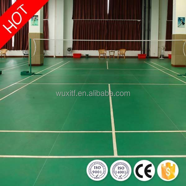 New design durable badminton pvc floor from china