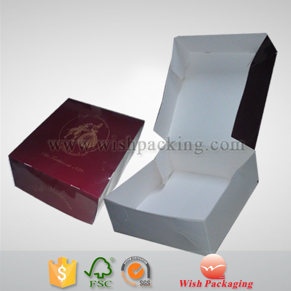 Paperboard / paper cardboard foldable cake box