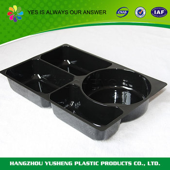 Blister 4 compartment takeout food container