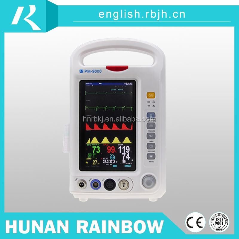 Multi parameter high technology lcd cardiac monitor price