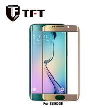Guangzhou factory stock High quality 3D Curved full cover edge tempered glass screen protector for Samsung Galaxy S6 Edge