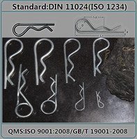 double DIN 11024 Single Hair pin