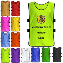 customized hot selling soccer training bibs multicolor cheap price football wear for men and kids