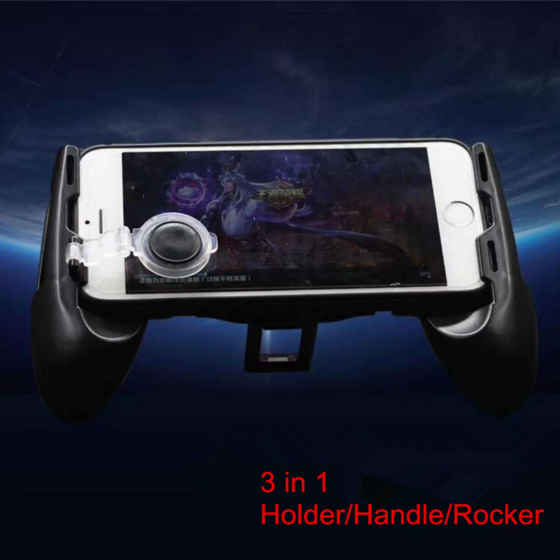 2018 Amzom hot selling 3 in 1 phone joystick gamepad/mobile game controller holder Sucker rod
