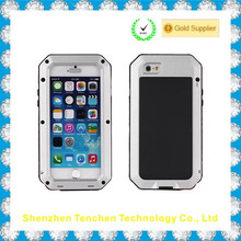 2016 high effective latest gorilla glass waterproof metal bumper phone case for iphone 5s case for iphone 6 cover