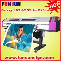 Galaxy 1.6m/1.8m/2.1m/2.5m/3.2m ploter printer with DX5/DX7 head (1440dpi , Promotion price now ).