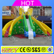2017 new outdoor gaint commercial inflatable dry slide for kids n adults