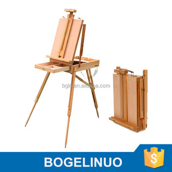 82*106*140(183)cm Wooden Sketch Box Easel Studio Easel French Easel
