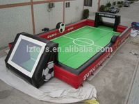 hot inflatable football field , LZ-367 football game new inflatable soccer field for sale