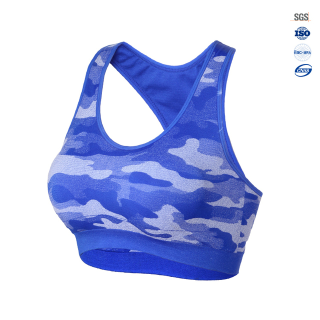 2017 wholesale women custom camouflage photo printed sports bra