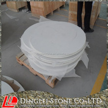 Engineered White Quartz Stone Round Table Tops