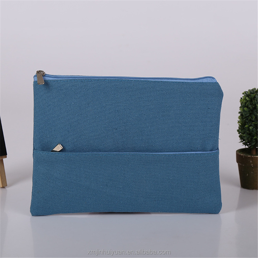 Small Cotton Material Storage Purse With Zipper