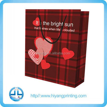High quality paper gift bag wholesale, Colth Paper Bag with logo printing