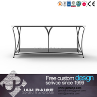 China glass top modern outdoor tv stand for sale