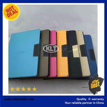 Shcokproof smart painting leather case for ipad air Pure Color Wallet Style