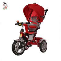 2017 China 4 in 1 folding stroller child tricycle kids bike smart new baby trike with canopy