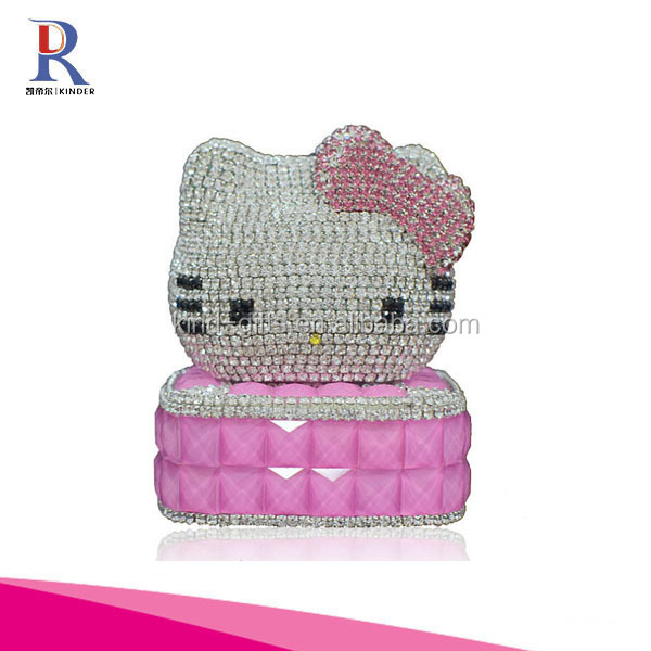Hello Kitty Refillable Car Perfume Bottle Scent Bottle Crystal Perfume Bottle for Displaying Inside Car