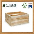 Cheap handmade square wooden crate, wine bottle storage crate