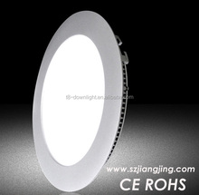 "Pure white 4000-4500k cut out 130mm external diameter 150mm 6"" round led panel light"