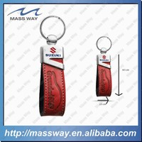promotional fancy customized metal genuine leather key holder
