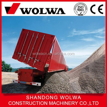 china side dump semi trailer with a dumping box for sale