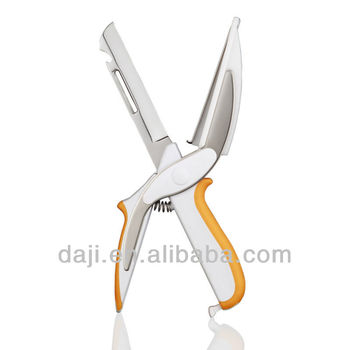 [DAJI] Multifunctional picnic knife Kitchen scissors with cutting board opener peeler tableware for western restaurant