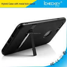 Hot selling kick stand 4 inch carbon fiber TPU PC Case for iPhone 7 nexus 7