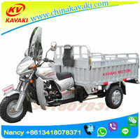 adult cargo tricycle 200cc 1.25m*1.8m with van passenger enclosed 3 wheel motorcycle