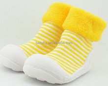 Dropship new fashion rubber sole baby sock shoes